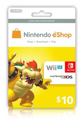 Carte Cadeau Nintendo Eshop.Nintendo Eshop Card 10 Usd Wap Title